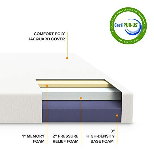home, kitchen, furniture, bedroom furniture, mattresses, box springs,  mattresses 11 discount Best Price Mattress 6-Inch Memory Foam Mattress deals