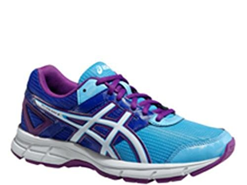 Asics Gel Galaxy 8 GS - Zapatillas de Correr Para Niño, Color Azul/Morado/Blanco