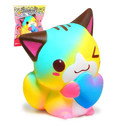 1 piece 129.5 CM New Love Cat Funny Squeeze Toy Prank Soft Squishy PU Slow Rising Antistress Scented Toys For Children Christmas Gifts for $<!--$23.88-->
