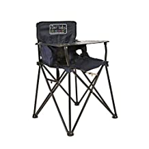 ciao! Baby Portable High Chair, Black with Carrying Case