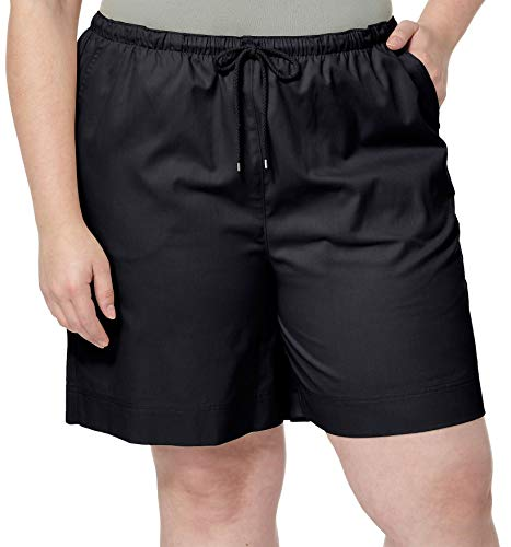 On Shorts Drawstring Pull - Coral Bay Plus Pull On Drawstring Shorts 3X Black