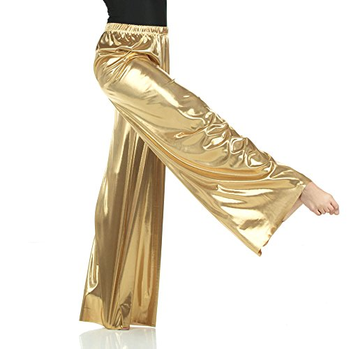 Danzcue Child Pull-on Unisex Dance Pant, Metallic Gold, L-XL]()