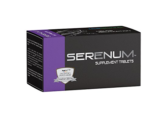 Serenum Stress Relief- Laboratory Backed Herbal Non-Habit Forming Relaxation Pills - Vegetarian Sleep Supplement - Reduce Tension - Settle Stomach - Satisfaction Guaranteed