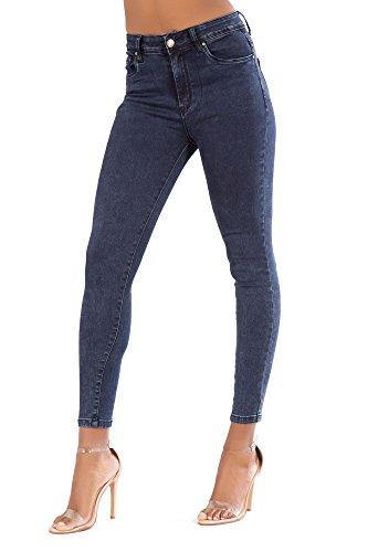 Fit High Lusty Skinny Donne nbsp;14 Acid Comodi Elasticizzato Jeans Nero Lustychic nbsp;– Wash Chic Taglia Pantaloni Bianco Blu Da A Donna Alta Waisted Vita 6 Slim ZwEpSq