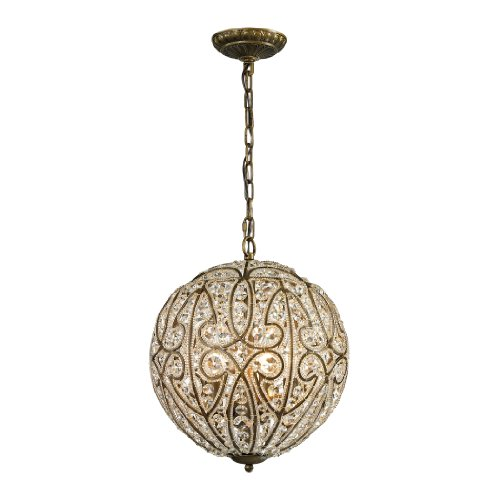 Elizabethan (existing) Collection 6 light pendant in Dark Bronze