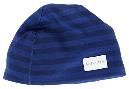 8984d04d0 Hush Baby Hat with Softsound Technology and Medical Grade Sound Absorbing  Foam, Navy Stripe, Navy, Medium