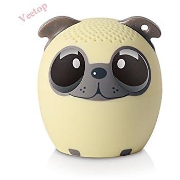 Veetop - Mini Music Pet Bluetooth Wireless Speaker Portable Rechargeable Battery- PUPPY