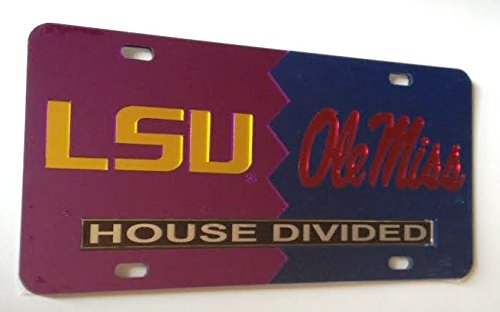 Lsu Tigers Ole Miss Rebels House Divided Mirrored