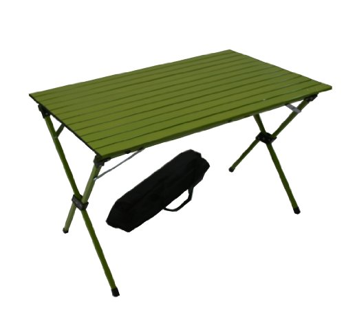 Table in a Bag LT4327G Large Tall Aluminum Portable Table With Carrying Bag, Green