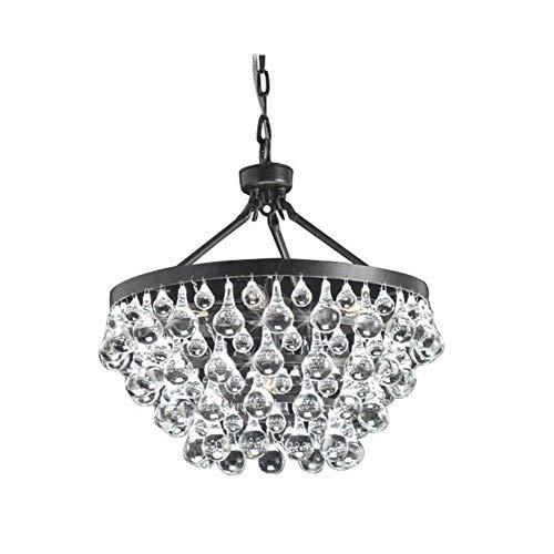 Windsor Home Deco WH-63342B Crystal Chandelier, Modern Pendant Lamp, Crystal Pendant Lights Fixture for Dining Room Living Room