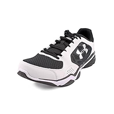 UNDER ARMOUR MENS ATHLETIC SHOES STRIVE IV WHITE BLACK SILVER 7 M