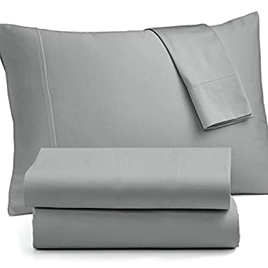 OXA IMPROVED Bed Sheet Sets Brushed Microfiber - Soft, Non-fading, Not Crimping , Deep pocket - Queen, Grey, 4 Piece