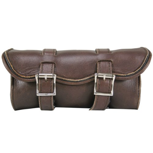 Xelement 1609 Distressed Brown Cruiser Motorcycle Tool Bag - One Size (Bag Motorcycle Tool Luggage)