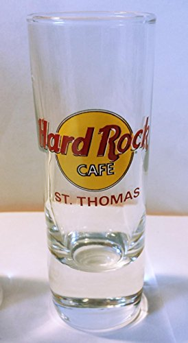 (Hard Rock Cafe St. Thomas (Red Lettering) Cordial Shot Glass)
