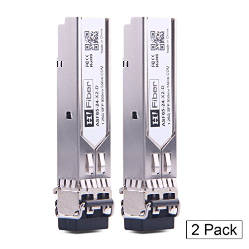 (SFP Transceiver Multimode Gigabit Mini-GBIC Module 1000Base-SX Compatible Cisco GLC-SX-MMD/GLC-SX-MM/SFP-GE-S,(MMF, 850nm, 550m, Dual LC,DOM), 2 Pack)