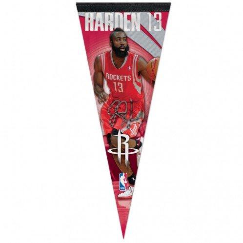 WinCraft NBA James Harden Houston Rockets Premium Pennant, 12 x 30-Inch