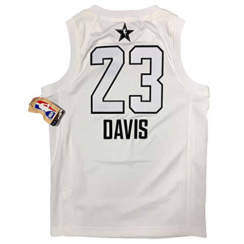 NBA Playoff Youth Swingman Official Licensed Jersey Product for Boys (New Orleans White(Davis), S(8))