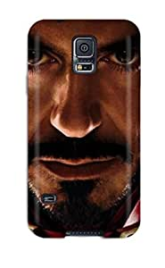 High Quality Shock Absorbing Case For Galaxy S5-iron Man Face