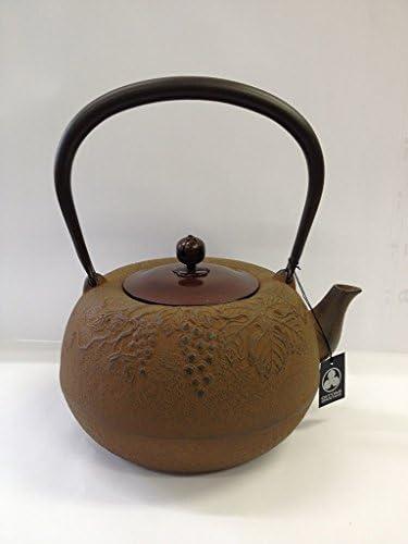 鉄瓶 姥口ぶどう 銅蓋