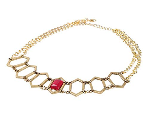 The Red Woman Melisandre Gold Necklace Thrones Copslay -