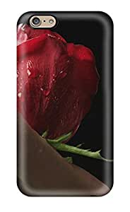 New Arrival Woman Holding A Red Rose Case Cover/ 6 Iphone Case by runtopwell