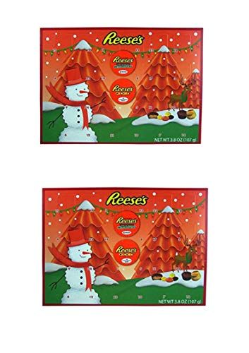 2018 Reese's Holiday Countdown Christmas Advent Calendar with Reese's Peanut Butter Cups and Candy Pieces, 1.76 oz (2 pack)