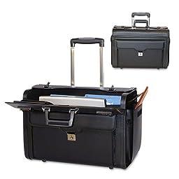 Bond Street, Ltd. - Rolling Computer/Catalog Case, Leather, 19 x 9 x 15-1/2, Black 546110BLK (DMi EA