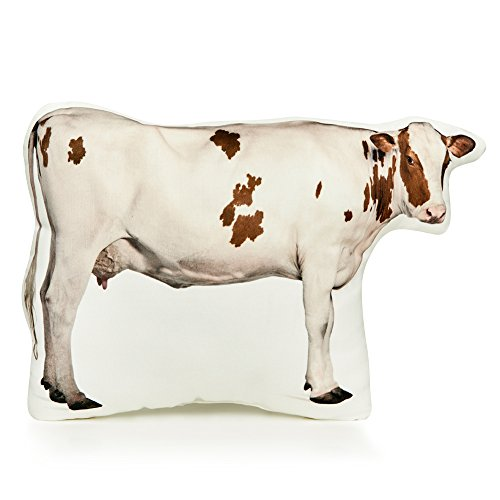 Cushion Co - Cow Brown and White Pillow 16