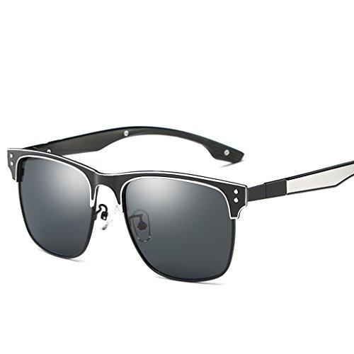 83ce29d8ab455 LUOMON Wayfarer Sunglasses for Men Women with 54mm Lens Polarized Sun  Glasses LM047
