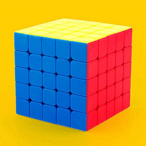 Lanlan 1PCS 5X5 Speed Cube Magic Cube Puzzles Boxes Brain Teasers Accessories 64MM Kids Adult New Year Birthday Christmas Relief Soothing Fidgets Healthy Toy Gift (2 Speed Assembly)