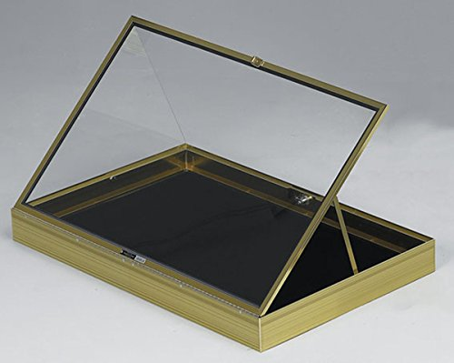 Portable Aluminum Glass Display Gold Showcase Black Pad Quality USA Made New by Bentley's Display