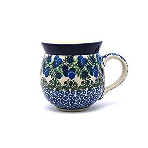 Polish Pottery Mug – 11 oz. Bubble – Huckleberry