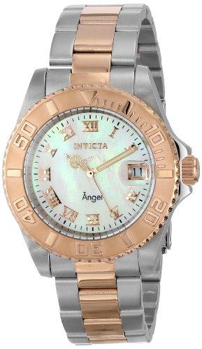 Invicta Women's 14367 Angel Analog Display Swiss Quartz Two Tone Watch