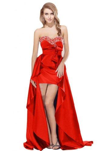 Sunvary Red vestito Hilo Sweetheart da arrivo sera nuovo stile TrPqOTw