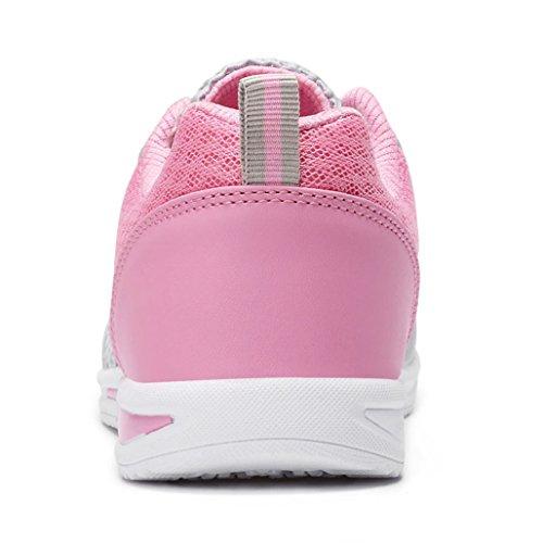 Wasserschuhe Wanderschuhe Eagsouni Pink Sportschuhe Mesh Atmungsaktives Schnür Schnell Damen Turnschuhe Sommer Trocknend zzfq1S