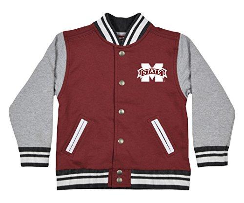 (NCAA Mississippi State Bulldogs Children Unisex Toddler Letterman Jacket, 2 Toddler,)