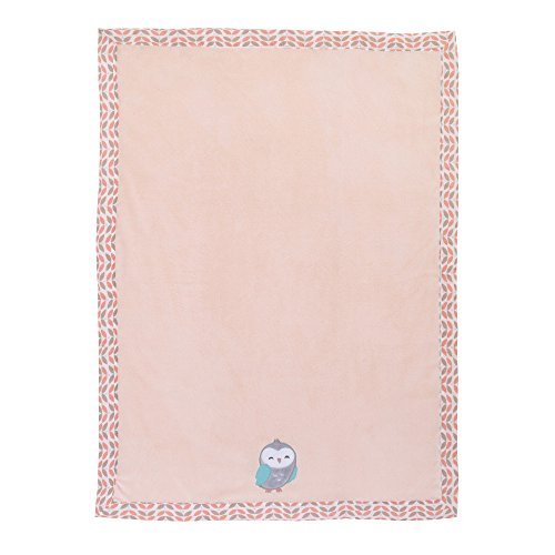 (Woodland Meadow Appliqued Coral Fleece Baby Blanket by Carters)