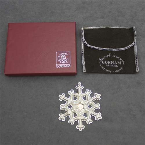 Gorham 1981 Snowflake Sterling Ornament (Gorham Sterling Snowflake)