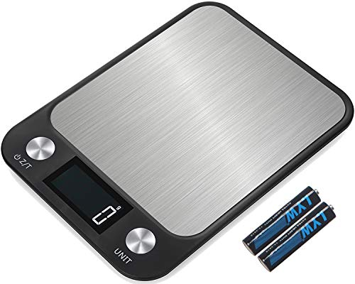 Touch Sensitive Lcd - Leandro Digital Food/Kitchen Scale,22 lb 10 kg,Large Gram Scale for Cooking and Baking,Large Backlit LCD Display,Sensitive Touch Function Key,Black,Batteries Included
