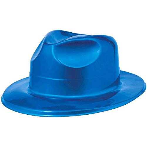 Disco Fever 70's Party Blue Fedora Hat Accessory, Plastic, 4