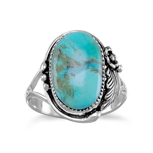 Reconstituted Turquoise Ring Sterling Silver, 8 ()