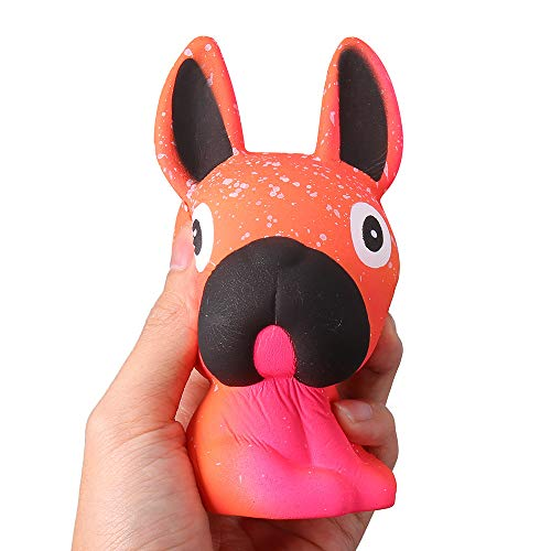 Funny Squeeze Toy Reliever Stress,Jumbo Dog Slow Rising Squishies Scented Squishy Squeeze Toy for Girls Boys Teens (Orange) from Aurorax