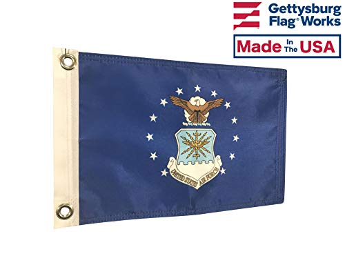 United States Air Force Seal Double Sided Boat Flag 8x12, 3 Ply, Durable All Weather Nylon