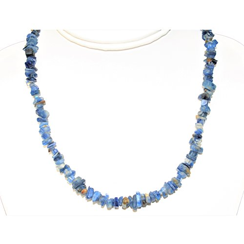 light blue crystal necklace - 7