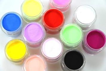 Amazon 12 Pots Different Color Acrylic Powder Dust Jumbo Set