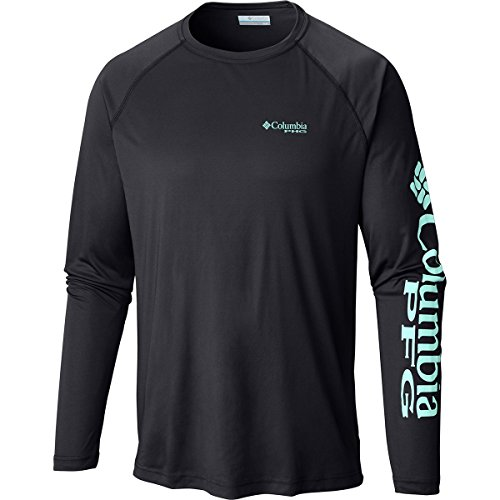 Columbia Sportswear Men's Terminal Tackle Long Sleeve Shirt, Black/Gulf Stream Logo, ()