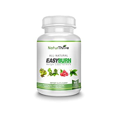 NaturThrive Easy Burn - Powerful Combination All Natural Weight Loss Suplement, Fat Burner, Appetite Suppresant - Raspberry Ketones, Garcinia Cambogia, Green Coffee Bean, Green Tea Extract