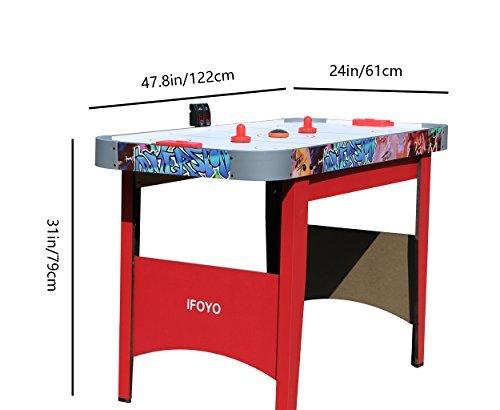 ifoyo 4 pies mesa de Air Hockey conjunto con tablero de la mesa ...