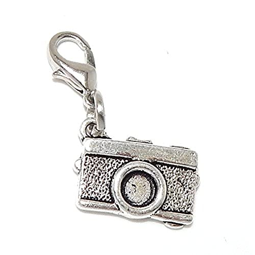 """wholesale Pro Jewelry Dangling """"Camera"""" Clip-on Bead for Chain Link Charm Bracelet 21414 free shipping"""
