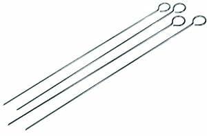 GrillPro 12150 - Pinchos cromados (4 piezas, 38,1 cm)